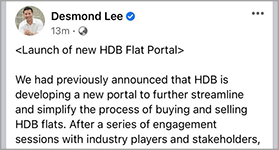 Hong Leong Finance partners HDB on the launch of a new HDB Flat Portal to improve flat buying journey